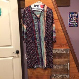 Women's quarter sleeve dress